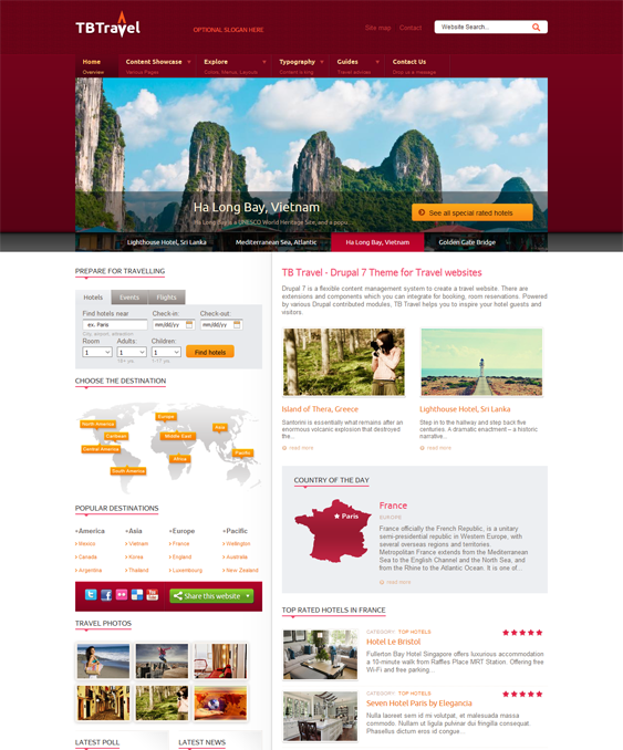 tb travel drupal themes
