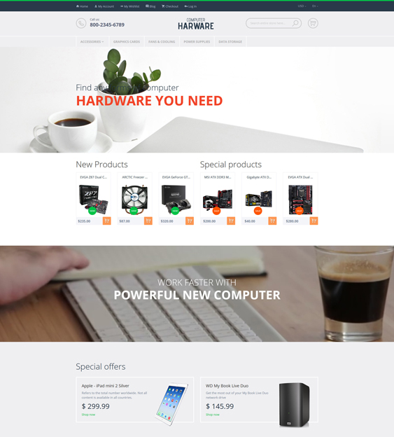 computer magento themes electronic stores 1