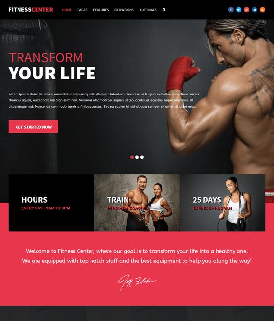 fitness gym wordpress themes center