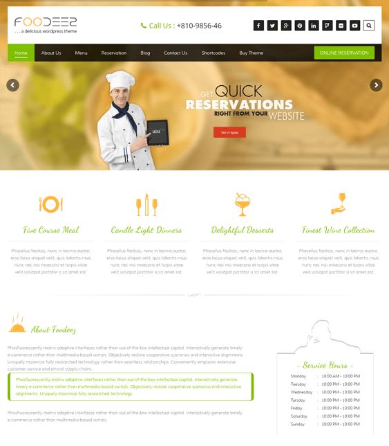 foodeez restaurant wordpress themes