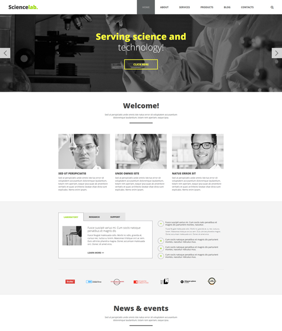 laboratory education joomla templates