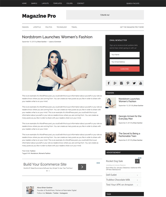 magazine pro news wordpress themes