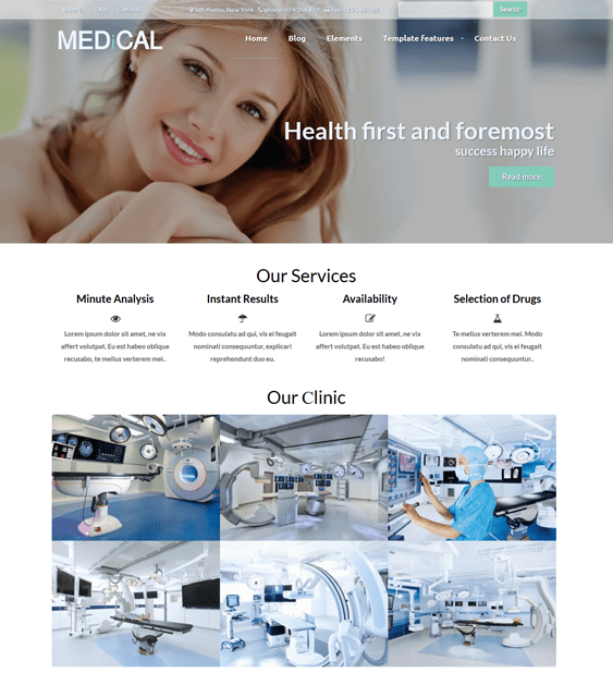 medical clean drupal themes