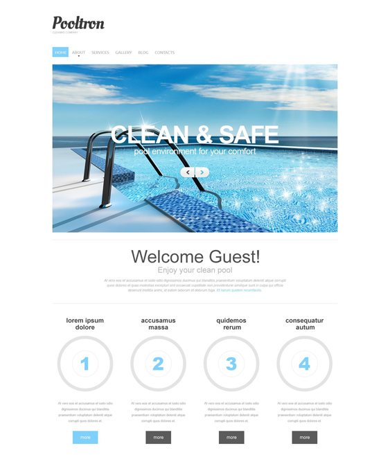 pool clean drupal themes