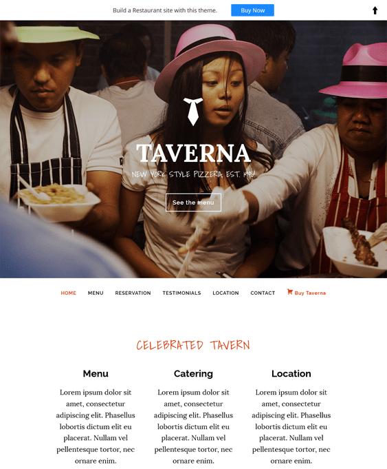 taverna restaurant wordpress themes