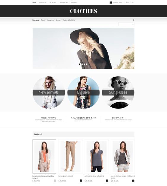 apparel minimal opencart themes