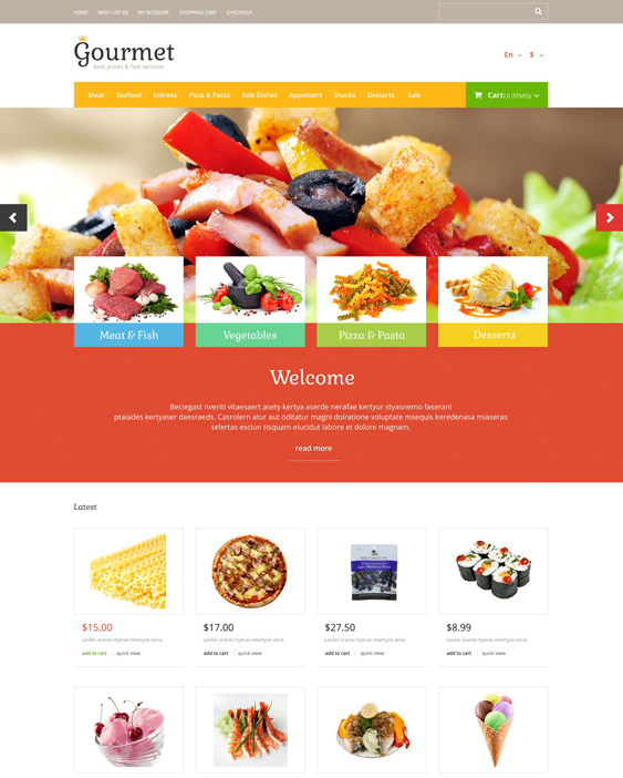 food food drink restaurant opencart themes