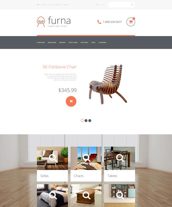 furniture furna home decor interior design opencart themes
