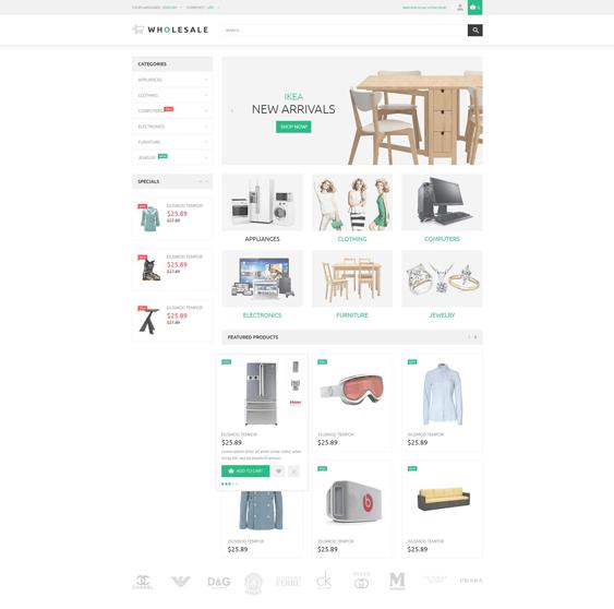 online warehouse minimal magento themes