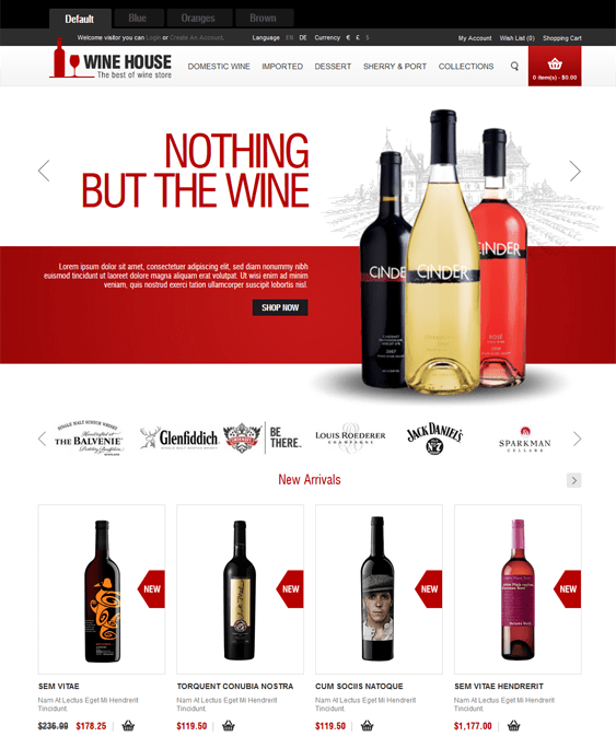 wine house food drink restaurant opencart themes