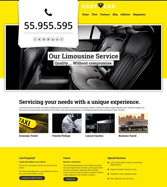 easycab car vehicle automotive wordpress themes