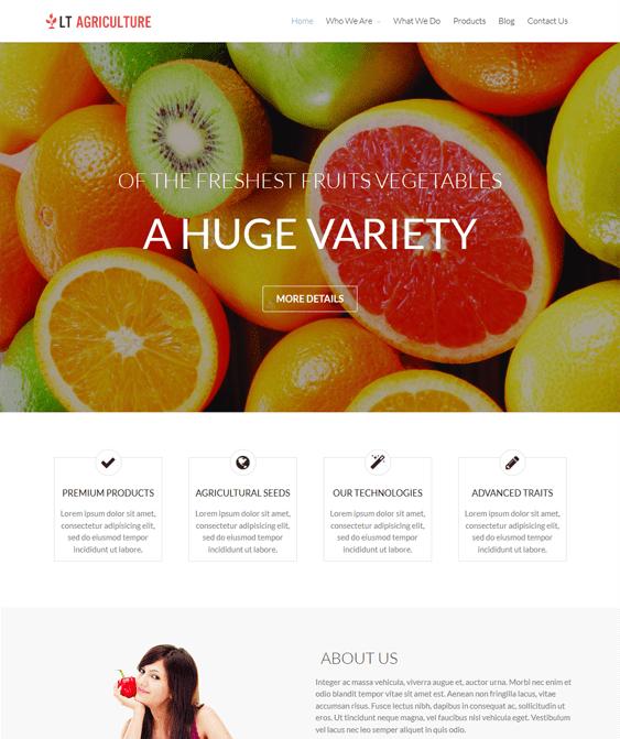lt farm agriculture websites wordpress themes