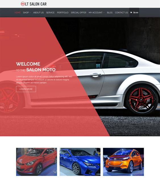 lt salon car vehicle automotive wordpress themes