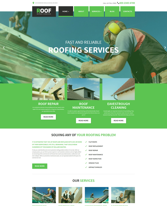 roof wordpress themes roofers roofing companies