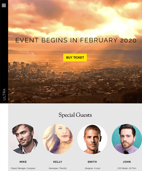 ultra events wordpress themes