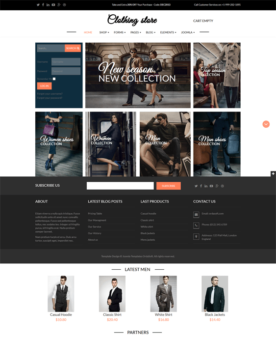 clothing store virtuemart themes