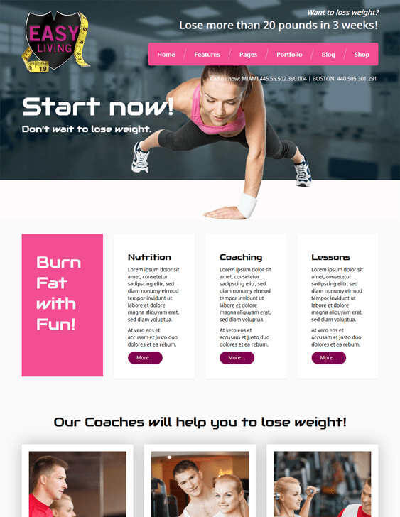 meet easyliving gym fitness wordpress themes