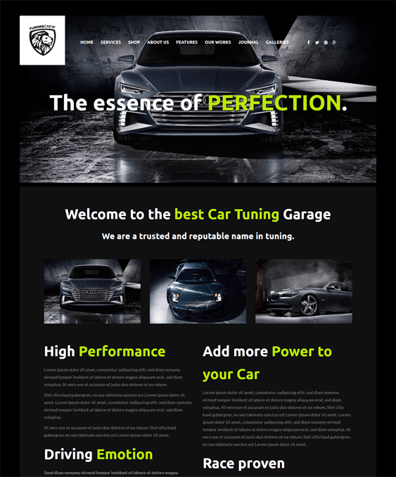 tuningcrew car vehicle automotive wordpress themes