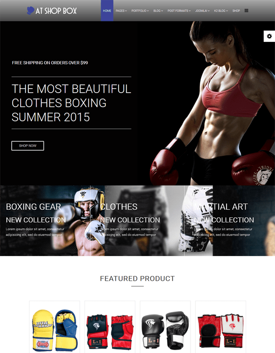 at shop box fitness gym joomla templates