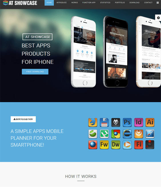 at showcase one page joomla templates