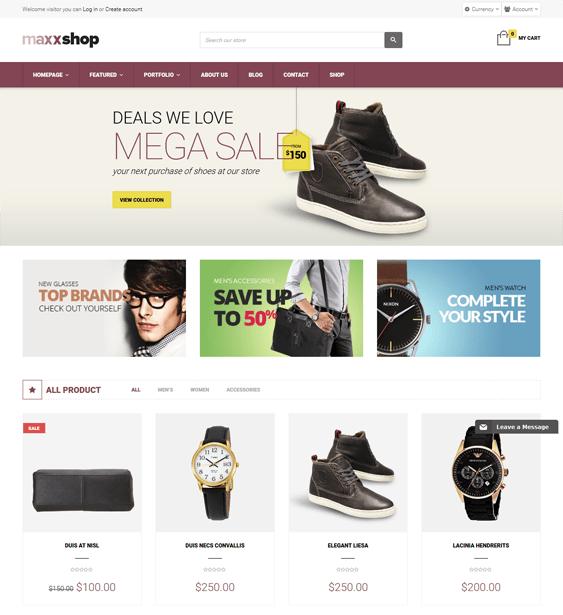 maxx shoe store shopify themes