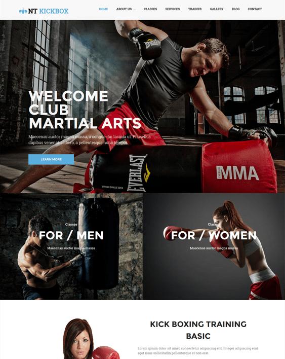 nt kickbox gym fitness wordpress themes