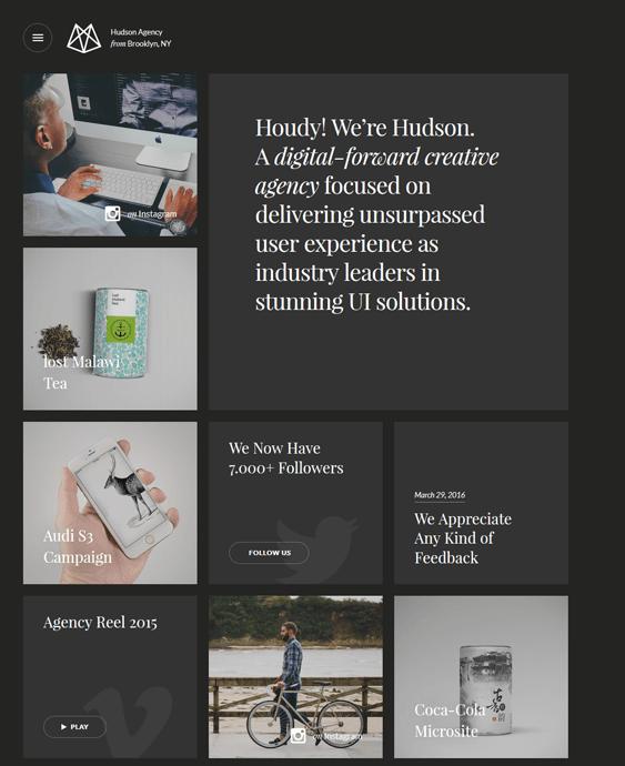 hudson dark wordpress themes