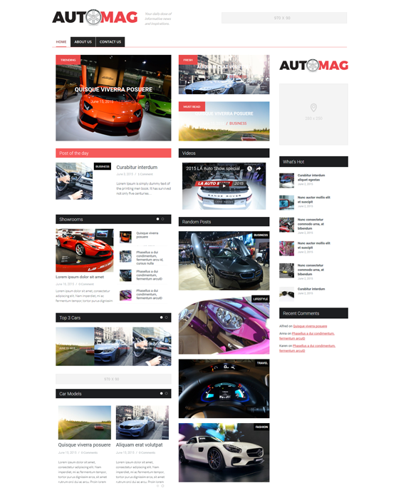 hybrid automotive car vehicle wordpress themes
