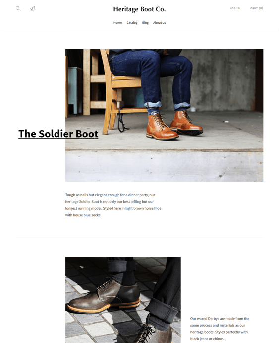 lorenza heritage shoe store shopify themes