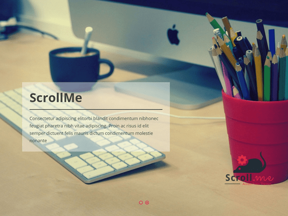 scrollme free one page wordpress themes