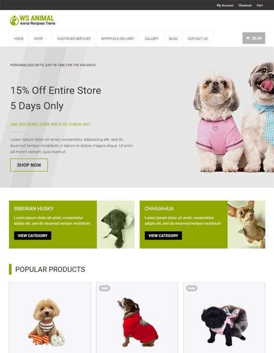 ws animal pets vets wordpress themes