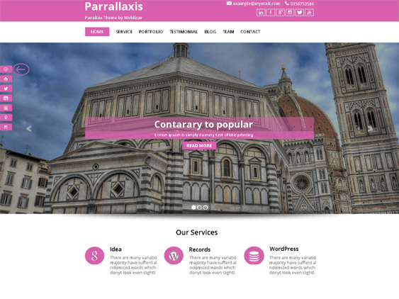 parallaxis free parallax wordpress themes