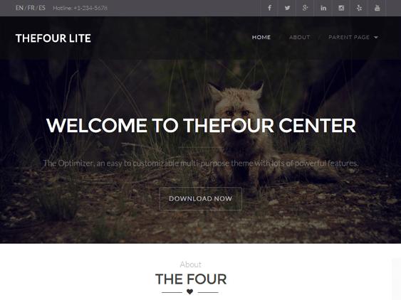 thefour free parallax wordpress themes
