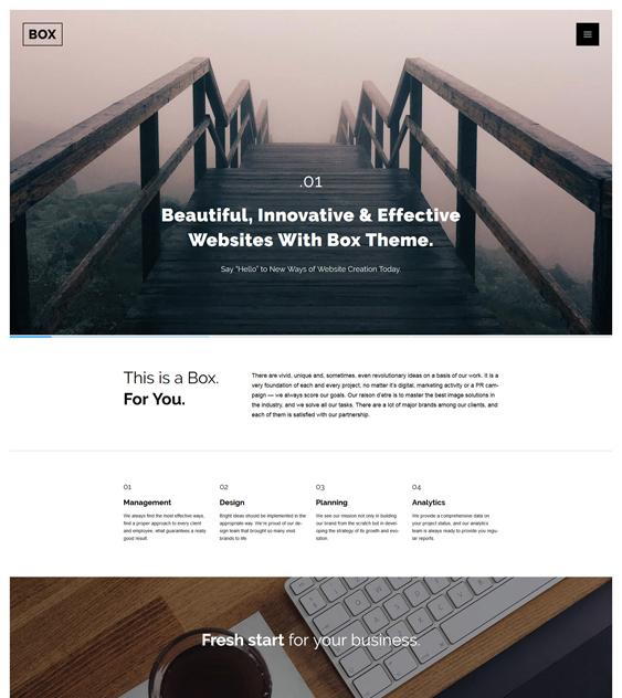 web design parallax wordpress themes