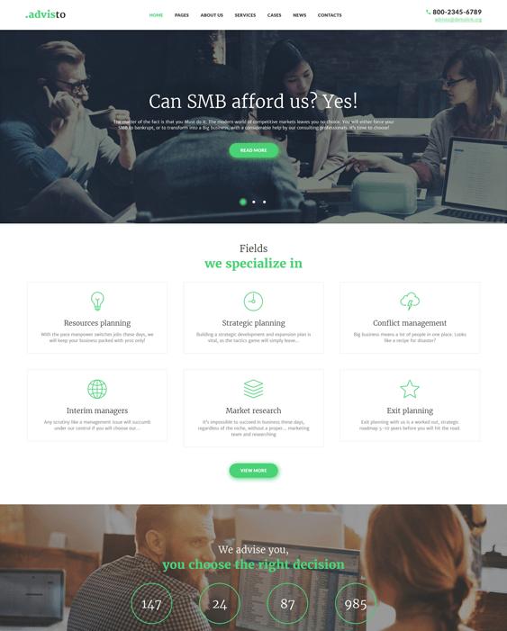 advisto finance wordpress themes