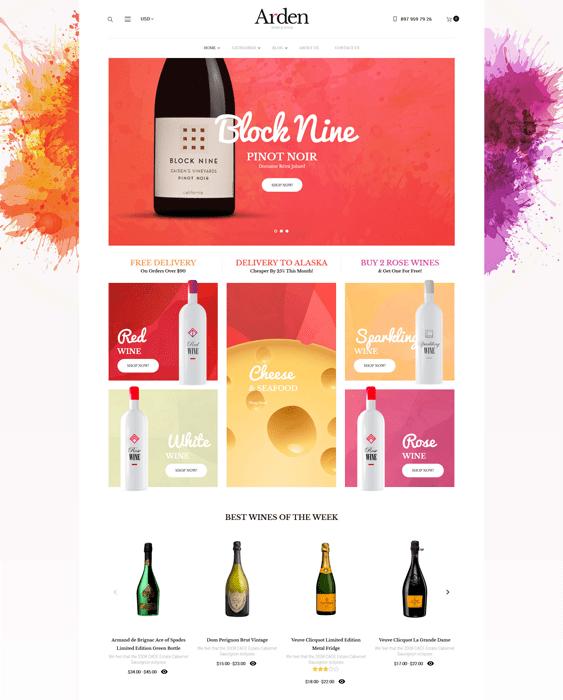 arden wine wordpress themes