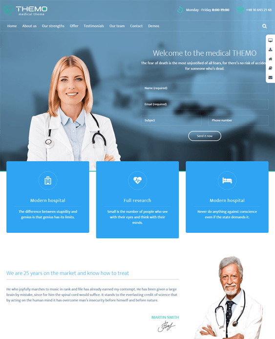 themo medical wordpress themes