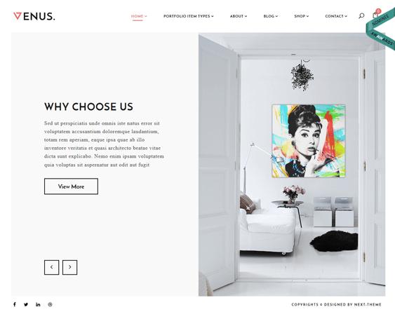 venus architect architecture firms wordpress themes
