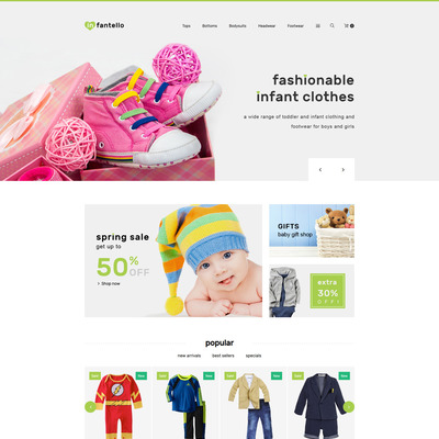 Infantello (PrestaShop theme for selling clothing for kids, children, and babies) Item Picture