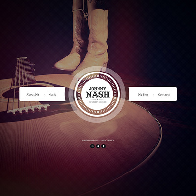 Singer Website Template (Bootstrap template for music websites) Item Picture