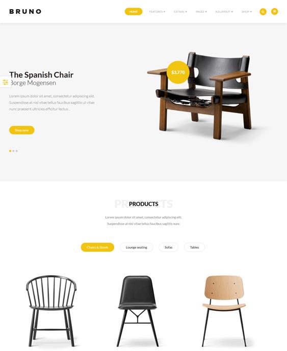 bruno furniture joomla templates