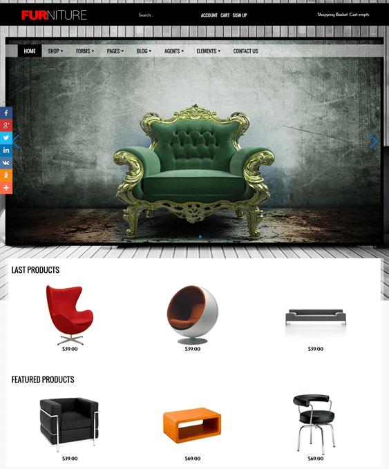 furniture joomla templates