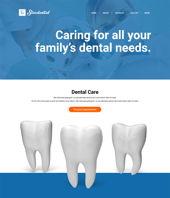 stardental medical wordpress themes