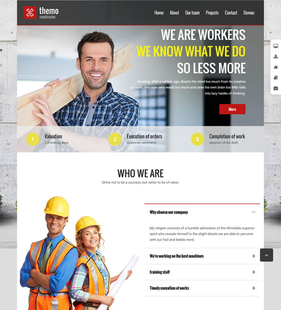 themo construction wordpress themes