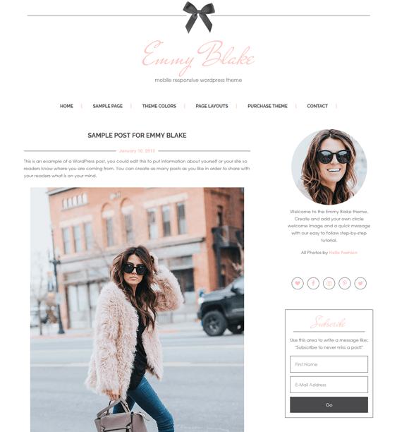 emmy feminine wordpress themes