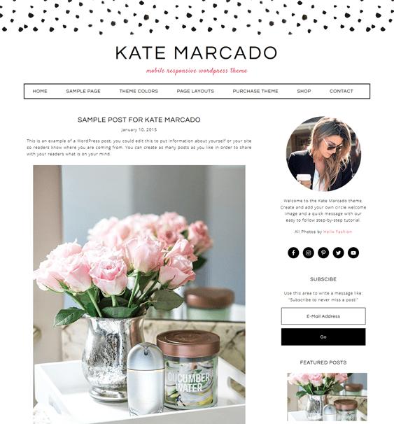 kate marcado feminine wordpress themes