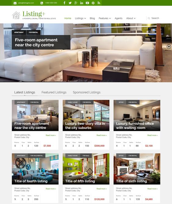 listing real estate drupal themes