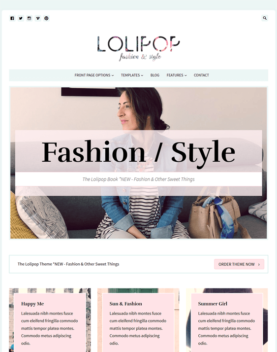 lolipop fashion blog wordpress themes