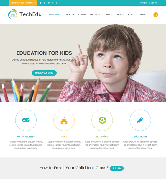 techedu education wordpress themes