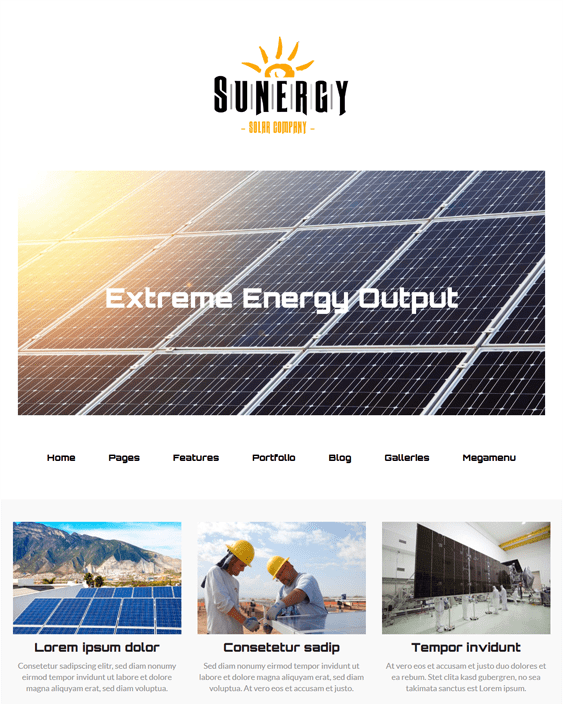 sunergy wordpress themes construction companies building contractors